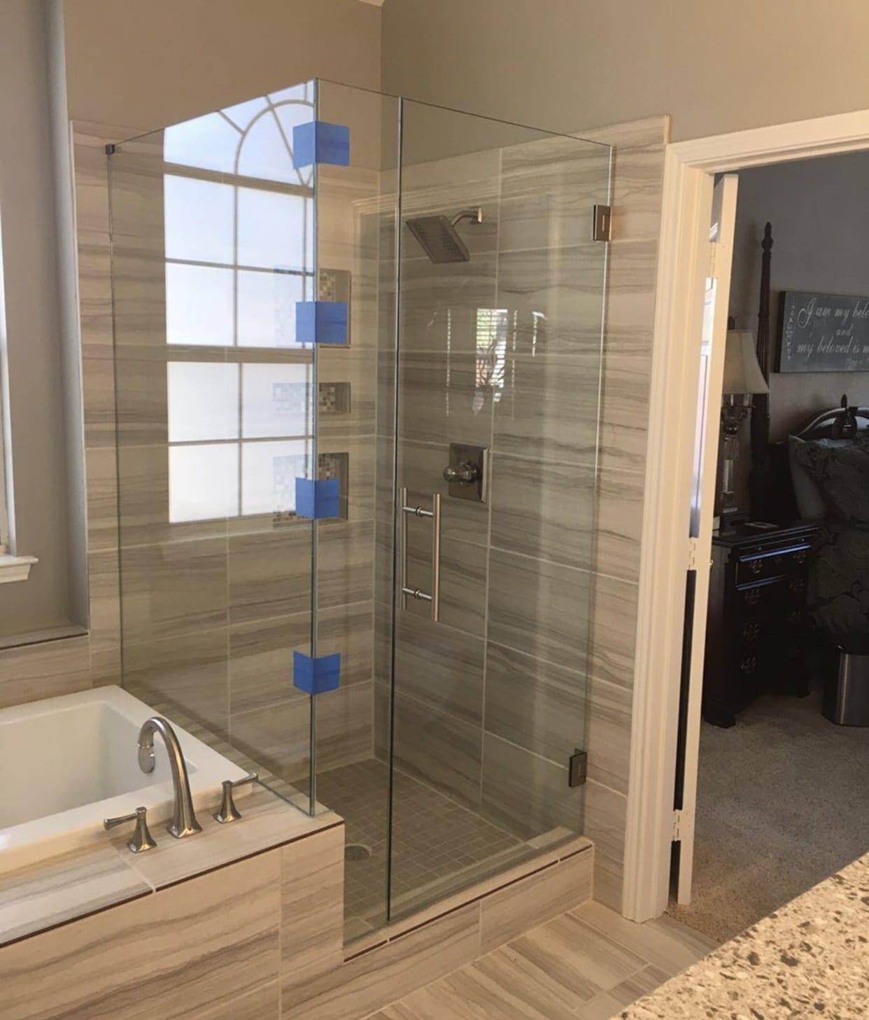 frameless shower doors img 2160 custom bathroom mirrors and decorative glass from Shower Doors of Nashville