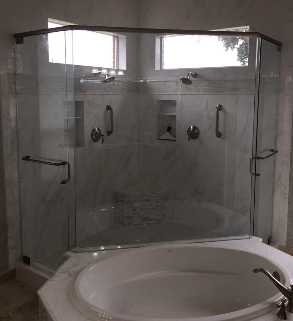 frameless shower doors img 2163 custom bathroom mirrors and decorative glass from Shower Doors of Nashville