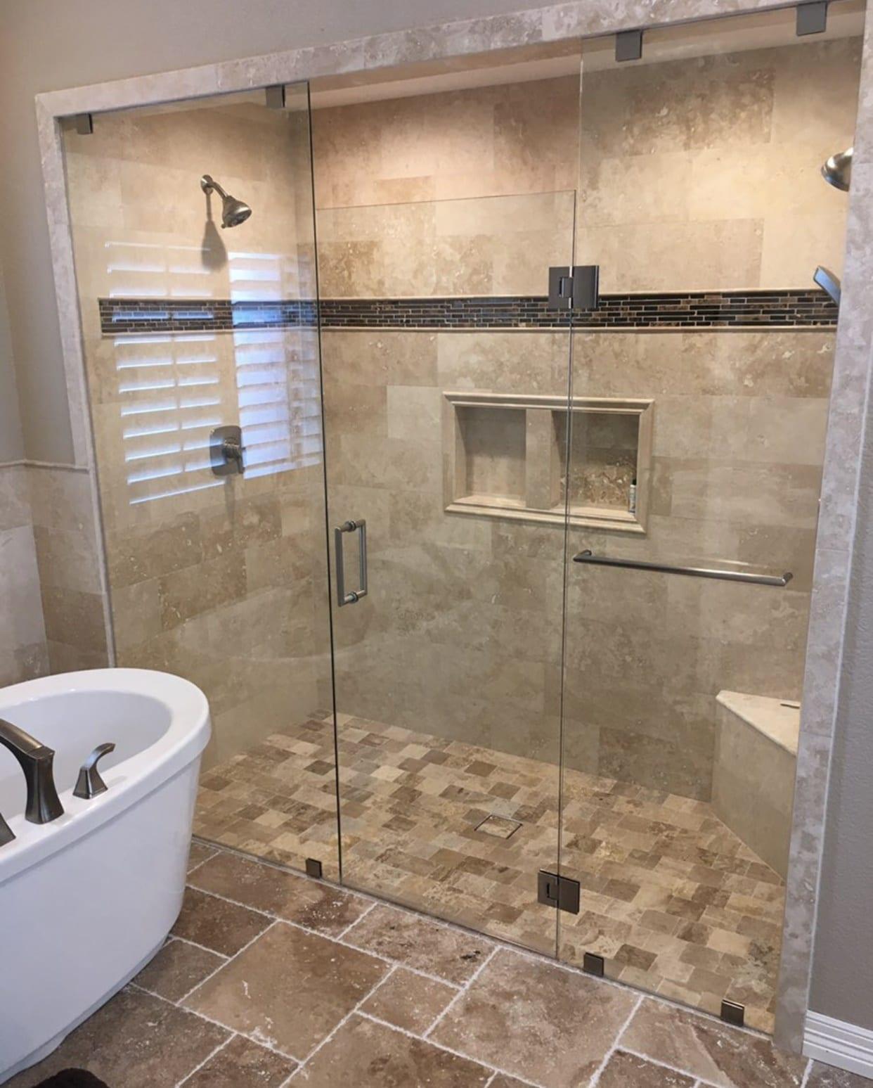 frameless shower doors img 2164 custom bathroom mirrors and decorative glass from Shower Doors of Nashville