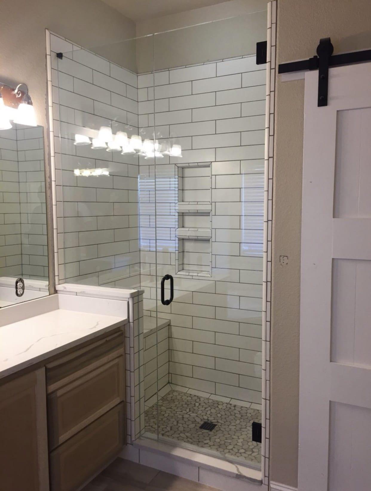 frameless shower doors img 2165 custom bathroom mirrors and decorative glass from Shower Doors of Nashville