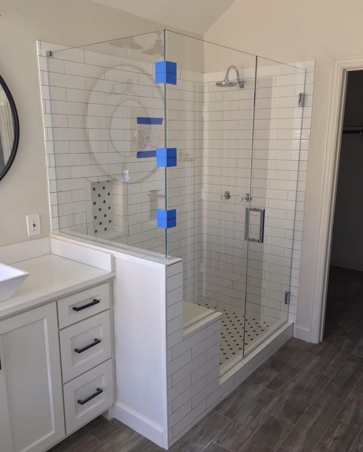 frameless shower doors img 2171 custom bathroom mirrors and decorative glass from Shower Doors of Nashville