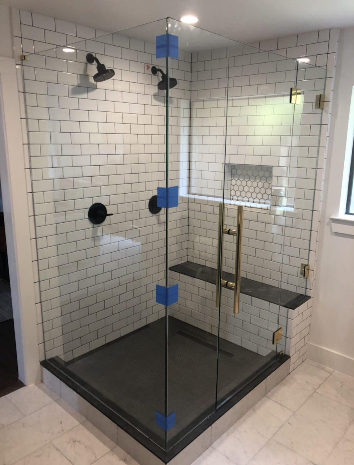 frameless shower doors img 2173 custom bathroom mirrors and decorative glass from Shower Doors of Nashville