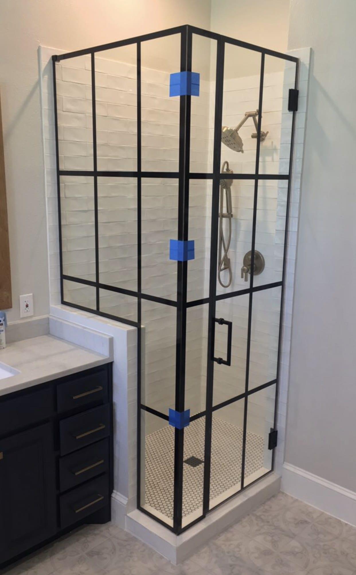 frameless shower doors img 2174 custom bathroom mirrors and decorative glass from Shower Doors of Nashville