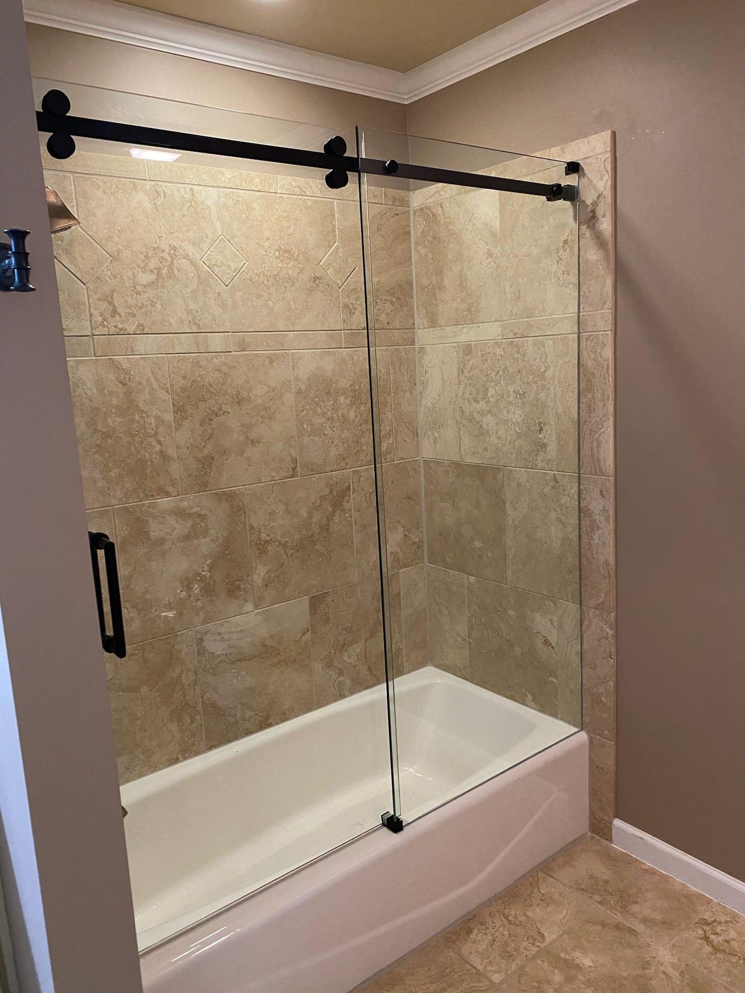 sliding shower door custom bathroom mirrors and decorative glass from Shower Doors of Nashville