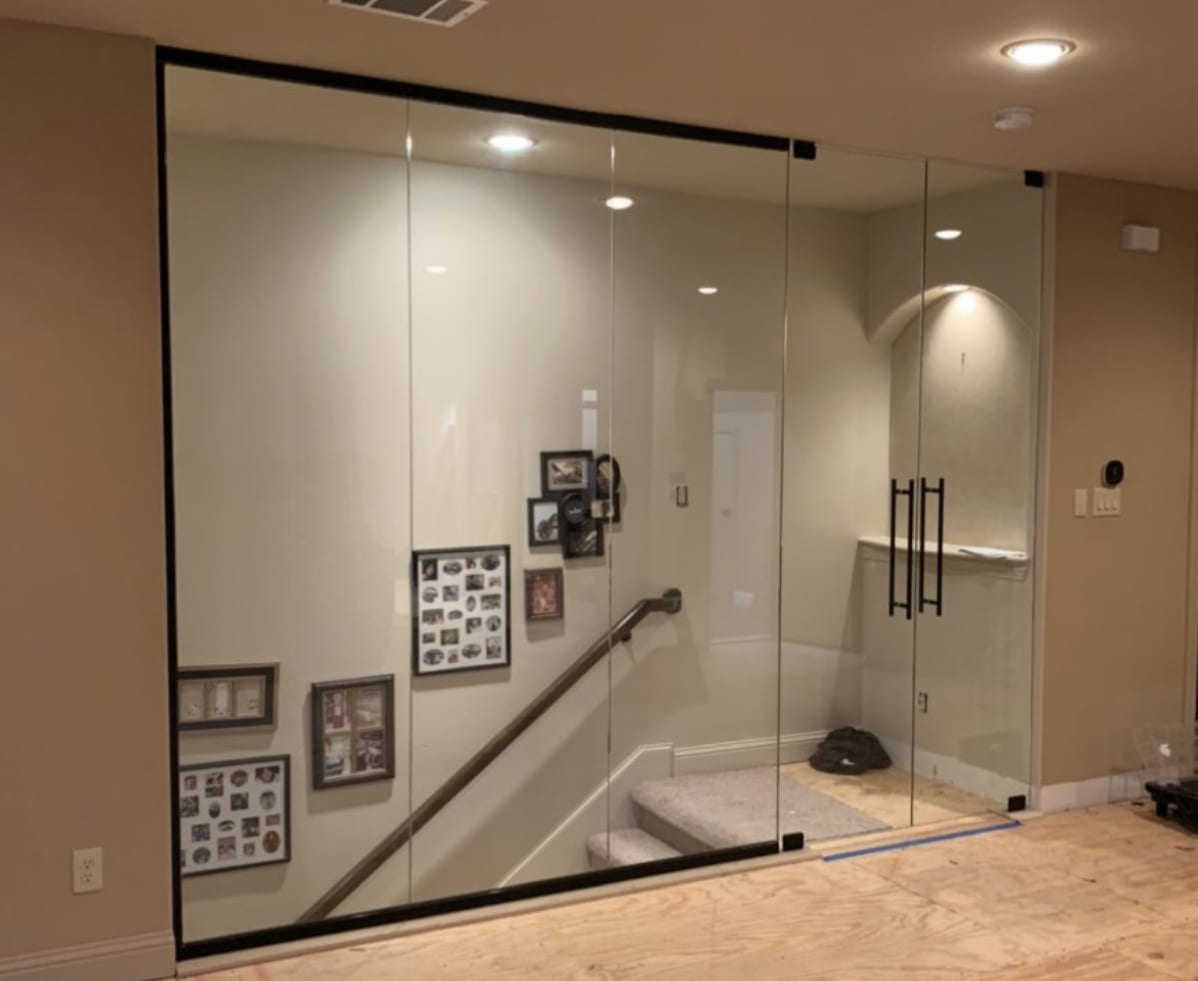 Decorative Glass Railings and Staircases by Shower Doors of Nashville